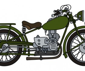 Rtero motorcycle drawing vectors material 02