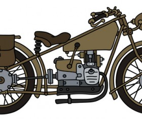 Rtero motorcycle drawing vectors material 03