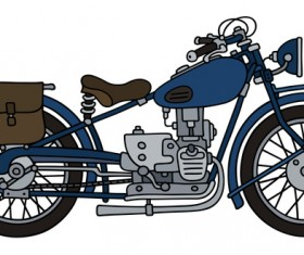 Rtero motorcycle drawing vectors material 04