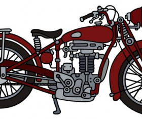 Rtero motorcycle drawing vectors material 05