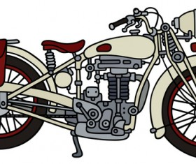 Rtero motorcycle drawing vectors material 06
