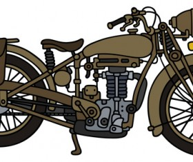 Rtero motorcycle drawing vectors material 09