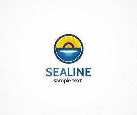 Sea line logo design vectors