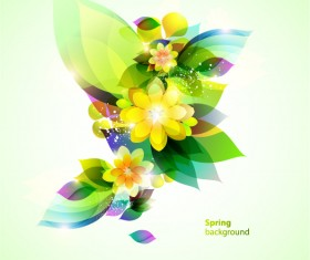 Shining spring flower backgrounds vector
