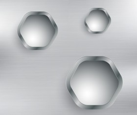 Silver metal background with hole vector