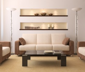 Simple living room Stock Photo