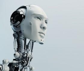 Simulation of intelligent robots Stock Photo 01