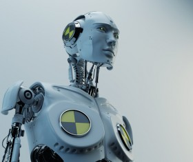 Simulation of intelligent robots Stock Photo 02
