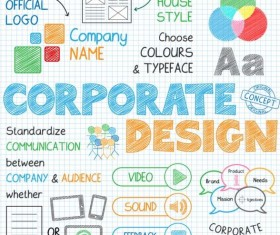 Sketch notes business infographics vector 12