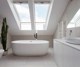 Small bathroom design Stock Photo 03