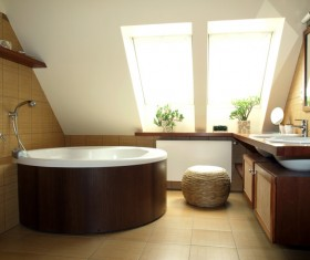 Small bathroom design Stock Photo 04
