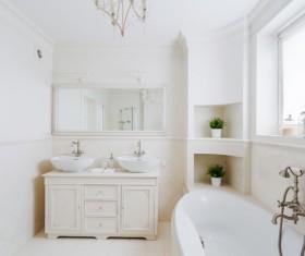White bathroom design Stock Photo