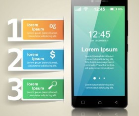 Smartphones with option infographic vector template 13