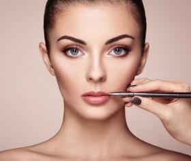 Smear lipstick woman HD picture 03