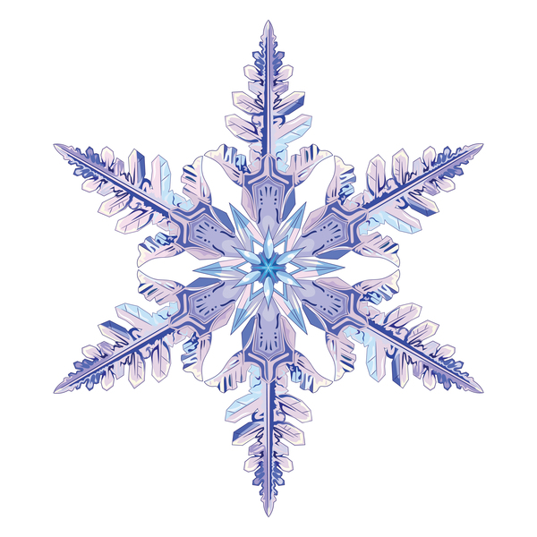 Snowflake with white background vector material 04 free download