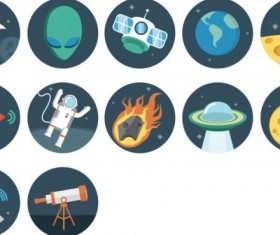 Space vintage icons