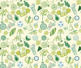 Sport elements seamless pattern vectors 09