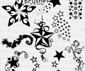 Star decor photoshop brushes