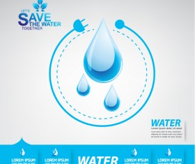 Start now save the water infographic vector 01