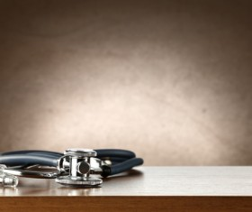 Stethoscope on the desktop Stock Photo