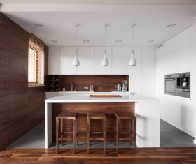 Stock photo Modern kitchen design 17