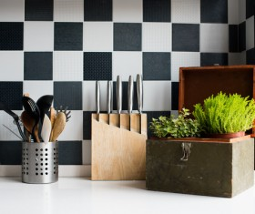 Stock photo Modern kitchen design 18
