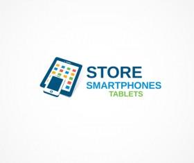 Store smartphones tablets logo design vectors