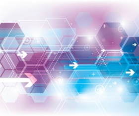Technology elements with hexagon background vector 02