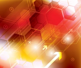Technology elements with hexagon background vector 04