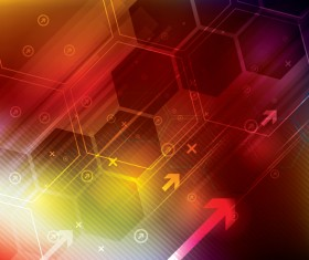 Technology elements with hexagon background vector 05
