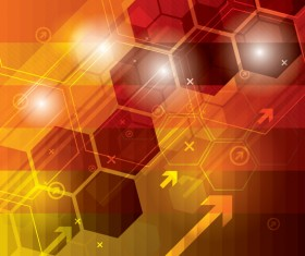 Technology elements with hexagon background vector 07