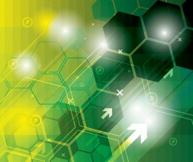 Technology elements with hexagon background vector 08