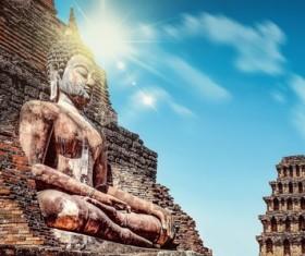 Thai Buddhist sculpture Stock Photo