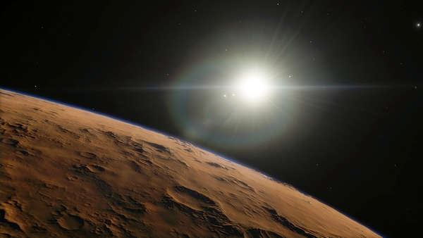 The Barren Planet And The Sun Stock Photo Free Download