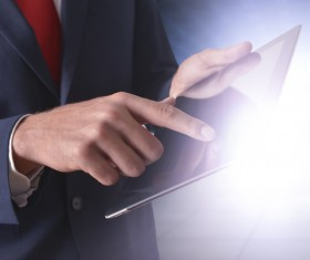 The person who operates the tablet HD picture
