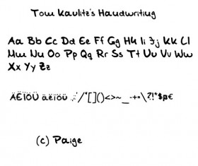 Tom Kaulitz Handwriting Font