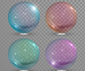 Transparent bubble illustration vector set 02