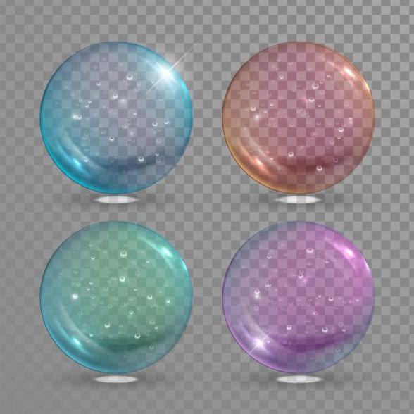 Transparent bubble illustration vector set 02