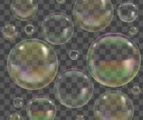 Transparent bubble illustration vector set 03