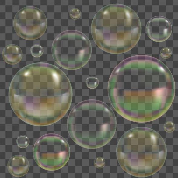 Transparent bubble illustration vector set 03