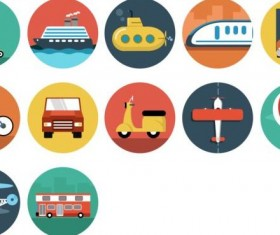 Transportation vintage icons