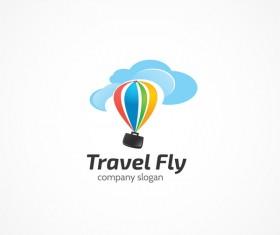 Travel fly logo design vectors