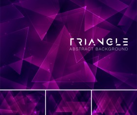 Triangle abstract creative background vector 11