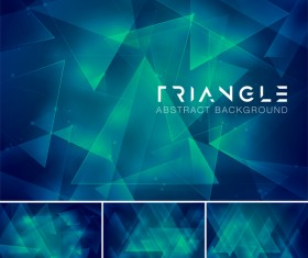 Triangle abstract creative background vector 12