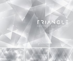 Triangle abstract creative background vector 13