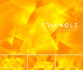 Triangle abstract creative background vector 14
