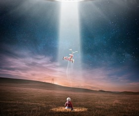 UFO powered by Stock Photo
