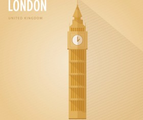 UK london monuments vector
