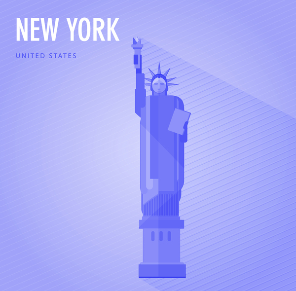 United States New York monuments vector 02