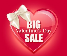 Valentine day big sale vector template